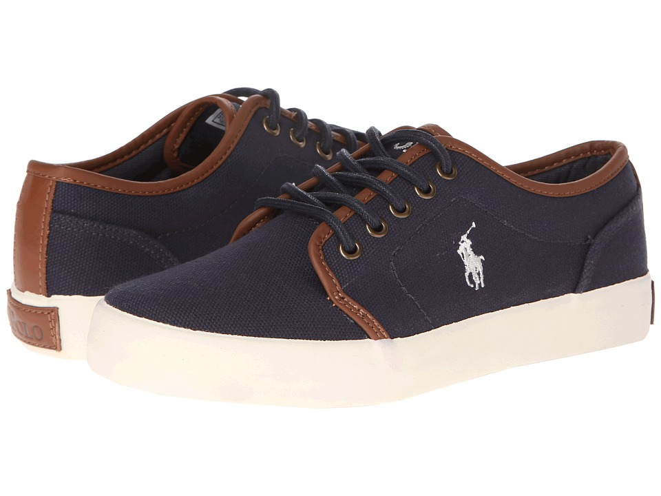 Polo Ralph Lauren Kids - Ethan Low FA13 (Big Kid) (Navy Ballstic Canvas) Boys Shoes