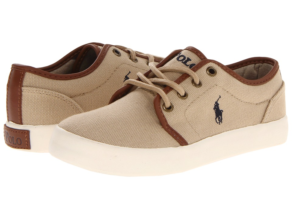 Polo Ralph Lauren Kids - Ethan Low FA13 (Little Kid) (Khaki Ballstic Canvas) Boys Shoes
