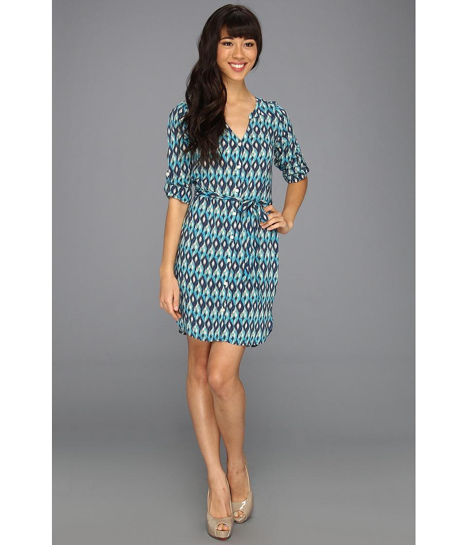 Lucky Brand Vailea Shirt Dress Womens Dress (Blue)