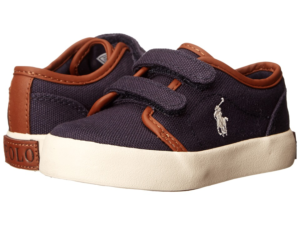 Polo Ralph Lauren Kids - Ethan Low Ez FA13 (Toddler) (Navy Ballistic Canvas) Boy's Shoes
