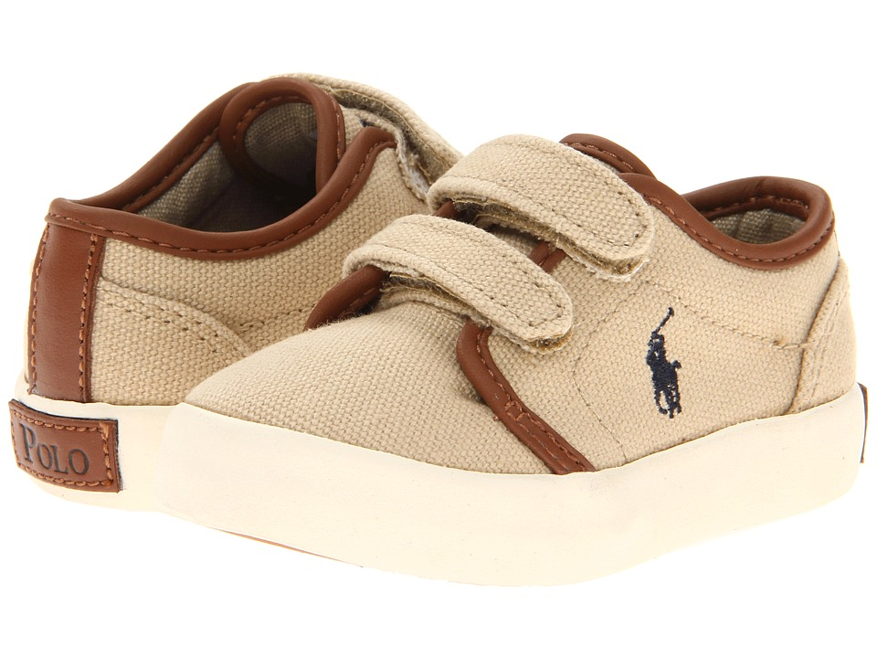 Polo Ralph Lauren Kids - Ethan Low Ez FA13 (Toddler) (Khaki Ballistic Canvas) Boy's Shoes