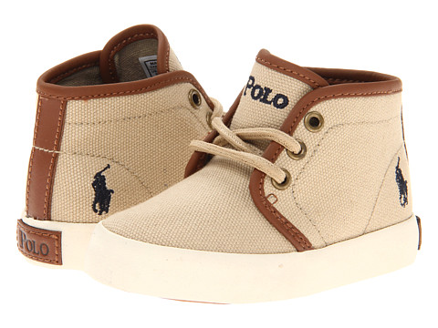 Polo Ralph Lauren Kids - Ethan Mid FA13 (Toddler) (Khaki Ballistic Canvas) Boys Shoes