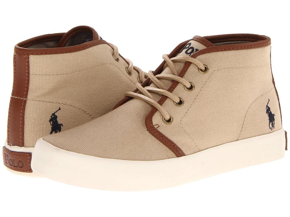 Polo Ralph Lauren Kids - Ethan Mid FA13 (Big Kid) (Khaki Ballistic Canvas) Boys Shoes