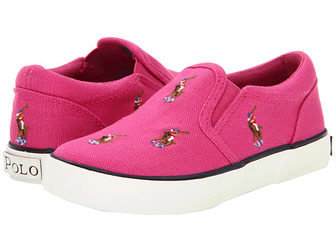 Polo Ralph Lauren Kids - Bal Harbour Repeat FA13 (Toddler) (Preppy Pink Canvas/Multi Colored Ponies) Girls Shoes