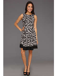 SALE! $34.99 - Save $104 on Vince Camuto Sleeveless A Line Abstract Dress (Rich Black) Apparel - 74.83% OFF $139.00