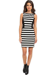 SALE! $66.99 - Save $82 on Vince Camuto Colorblock Stripe Dress (Rich Black) Apparel - 55.04% OFF $149.00