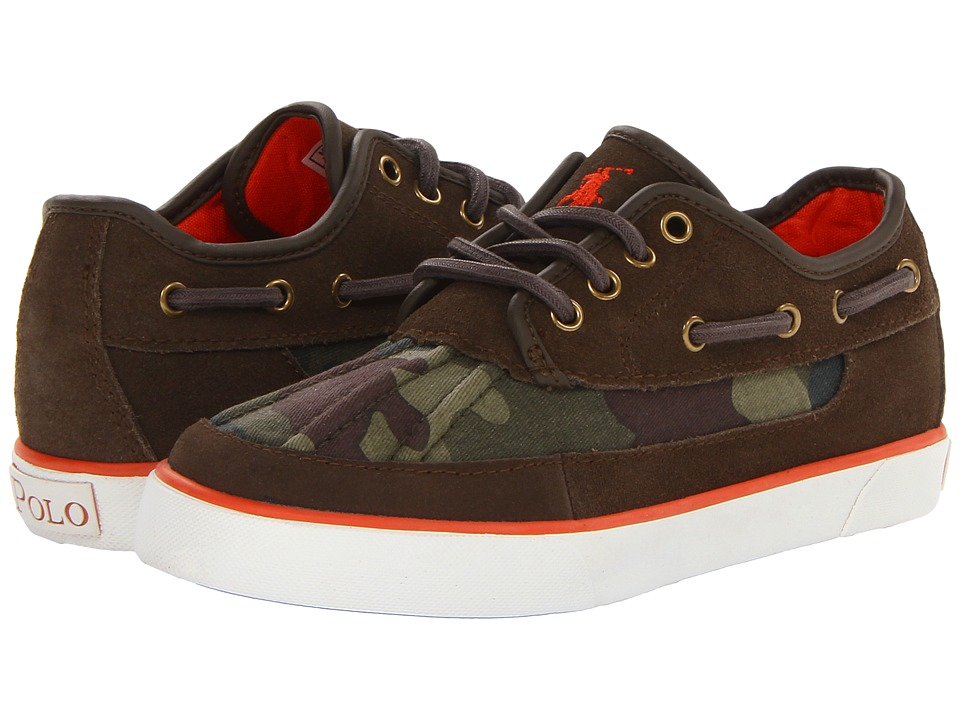 Polo Ralph Lauren Kids - Parkstone Low FA13 (Little Kid) (Olive Camouflage/Olive Suede) Boys Shoes