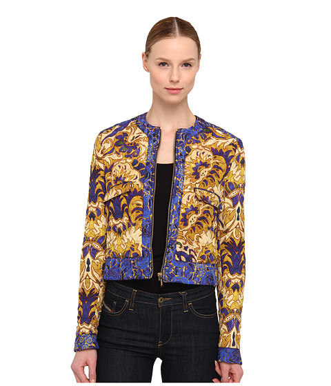Just Cavalli - Flower Cloud Print Jacket (Gold) Women