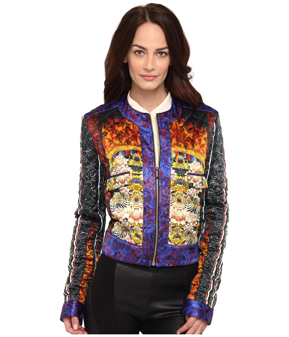 Just Cavalli - Quilted ST Tibetan Pillow Print Jacket (Red) Women