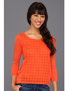 SALE! $14.99 - Save $45 on Lucky Brand Ellis Cut Out Top (Madarin Orange) Apparel - 74.81% OFF $59.50