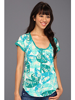 SALE! $11.99 - Save $38 on Lucky Brand Kaylee Palm Top (Green Multi) Apparel - 75.78% OFF $49.50