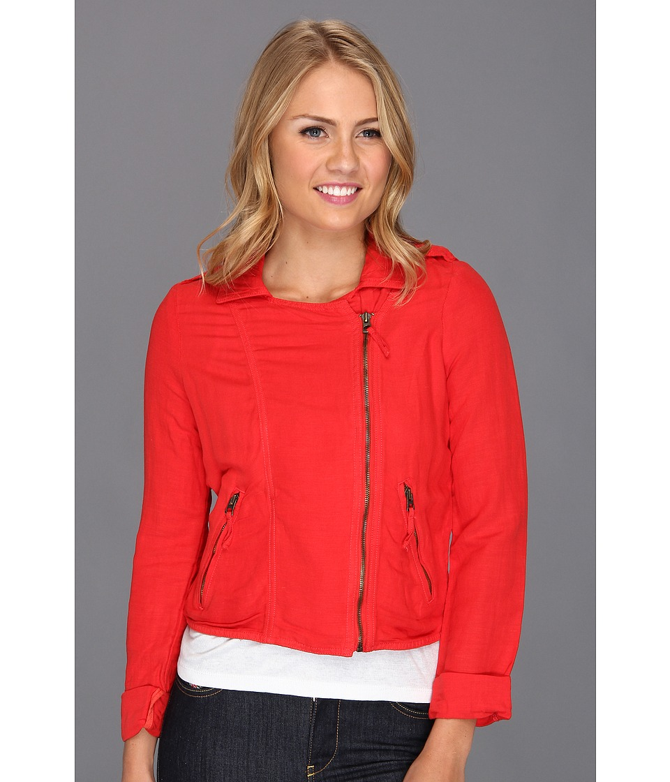 Lucky Brand - Addisyn Moto Jacket (Tomato Spice) Women's Jacket