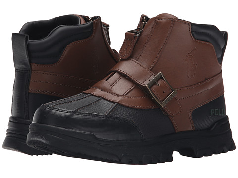 Polo Ralph Lauren Kids - Country Mid Zip FA13 (Youth) (Chocolate Tumbled/Tan Burnished Leather) Boys Shoes