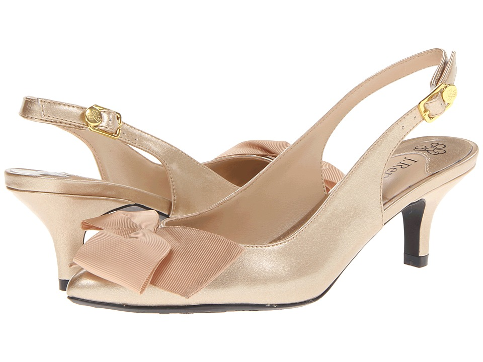 J. Renee - Lilliana (Gold/Brush Patent/Grosgrai) Women's Shoes