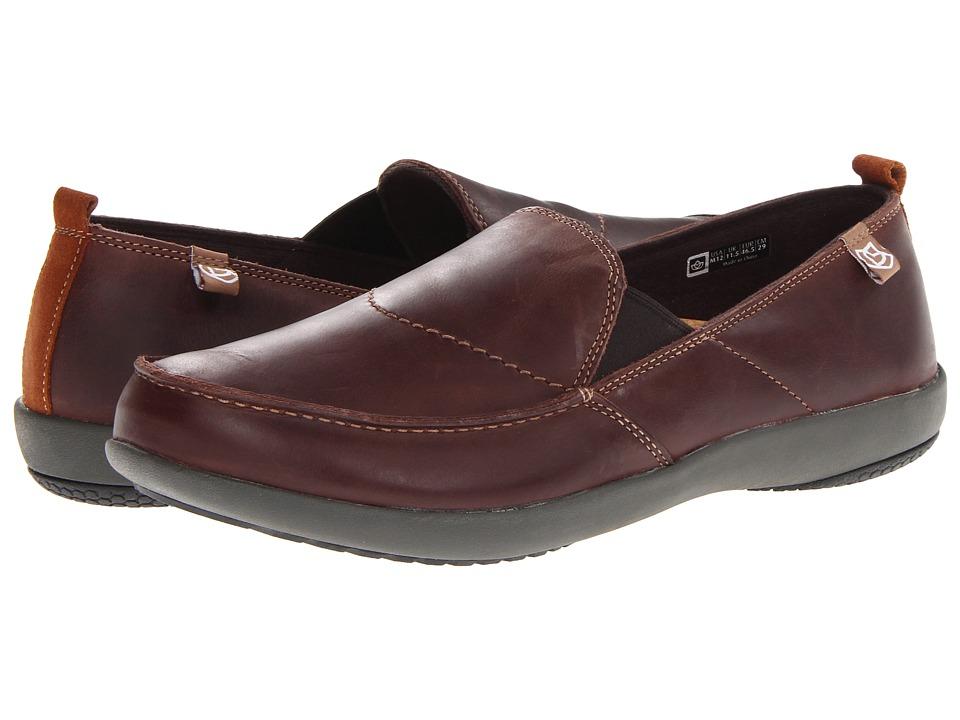 Spenco - Siesta Leather (Chocolate) Men's Shoes