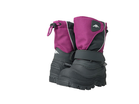 Tundra Boots Kids - Quebec Wide (Toddler/Little Kid/Big Kid) (Fuchsia/Charcoal) Girls Shoes