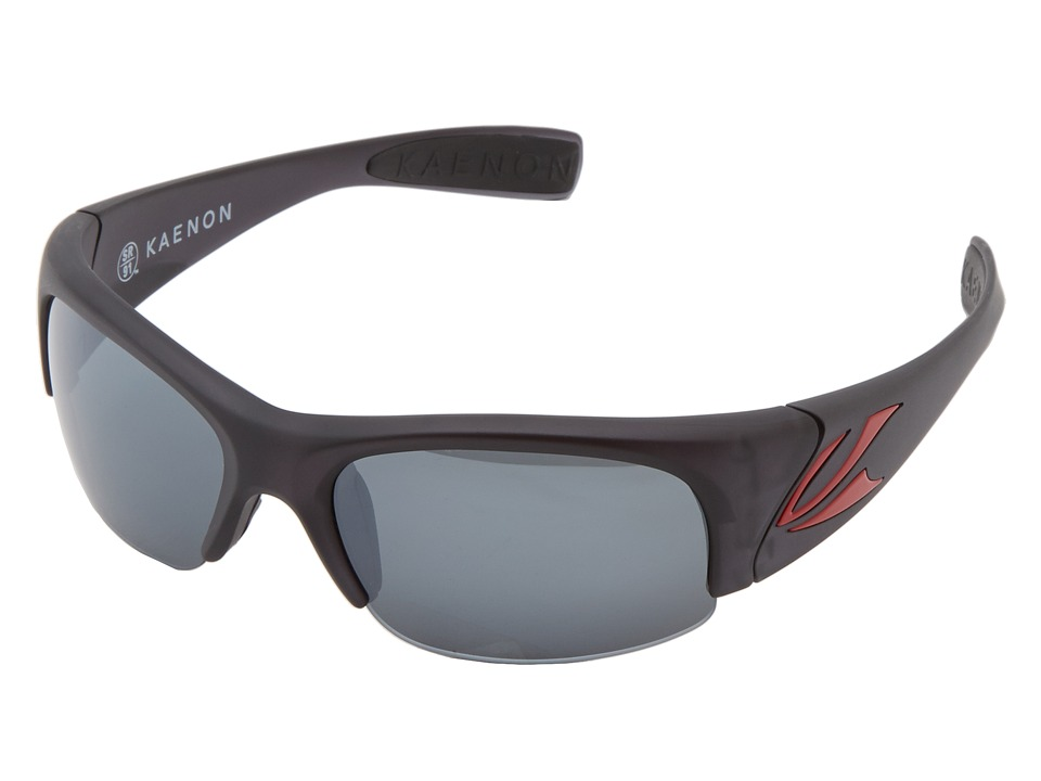 Kaenon - Hard Kore SR91 (Polarized) (Graphite/Red Logo G12) Polarized Sport Sunglasses