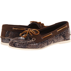 Sperry Top-Sider Audrey (Brown Python) Women's Slip on  Shoes
