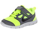 Nike Kids Free Run 5.0 (TDV) (Infant/Toddler) (Volt/Cool Grey/Pure Platinum/Black)