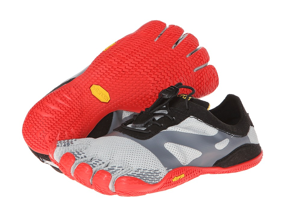 Vibram FiveFingers - ELX-LS (Little Kid/Big Kid/Adult) (Grey/Red) Athletic Shoes