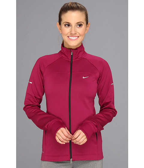 Nike - Element Thermal Full-Zip (Raspberry Red/Raspberry Red/Black/Reflective Silver) Women's Coat