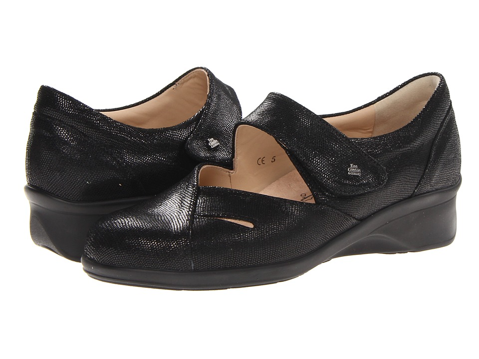 Finn Comfort - Aquila (Black) Women's Shoes