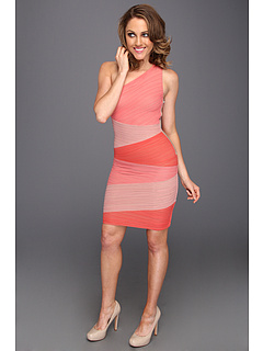 SALE! $219.99 - Save $118 on BCBGMAXAZRIA Kira One Shoulder Colorblock Dress (Pink Combo) Apparel - 34.91% OFF $338.00