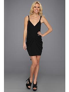 SALE! $114.99 - Save $113 on BCBGMAXAZRIA Terrianne Deep V Neck Draped Dress (Black) Apparel - 49.57% OFF $228.00