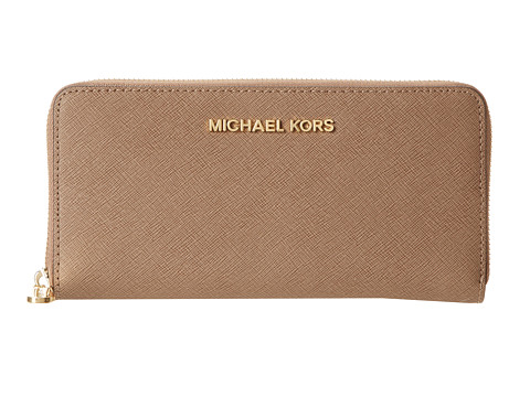 MICHAEL Michael Kors - Jet Set Travel (Dark Dune) Checkbook Wallet