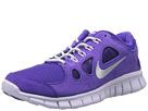 Nike Kids Free Run 5.0 Leather (Big Kid) (Electro Purple/Violet Frost/White/Metallic Silver)