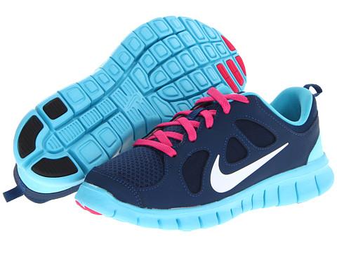 Nike Kids Free Run 5.0 (Little Kid) (Brave Blue/Gamma Blue/Pink Foil/White) Girls Shoes