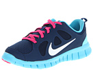 Nike Kids Free Run 5.0 (Little Kid) (Brave Blue/Gamma Blue/Pink Foil/White) Girls Shoes