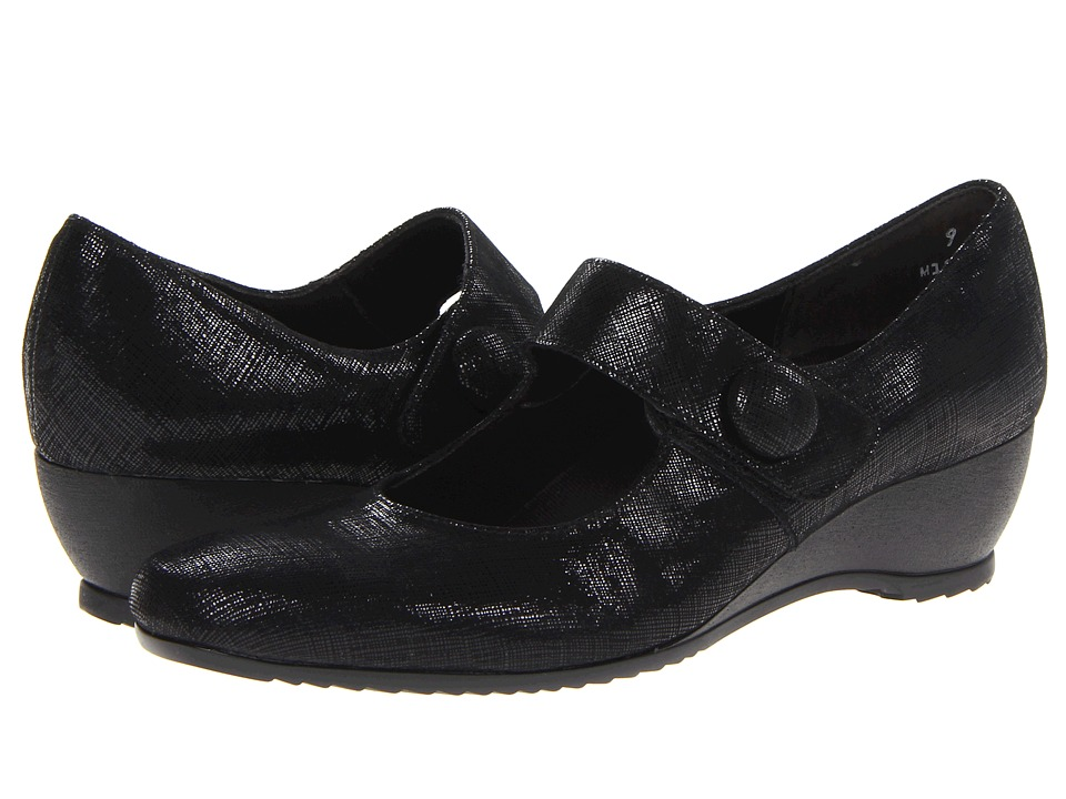 Munro American - Jenna (Black Crosshatch) Women's Shoes