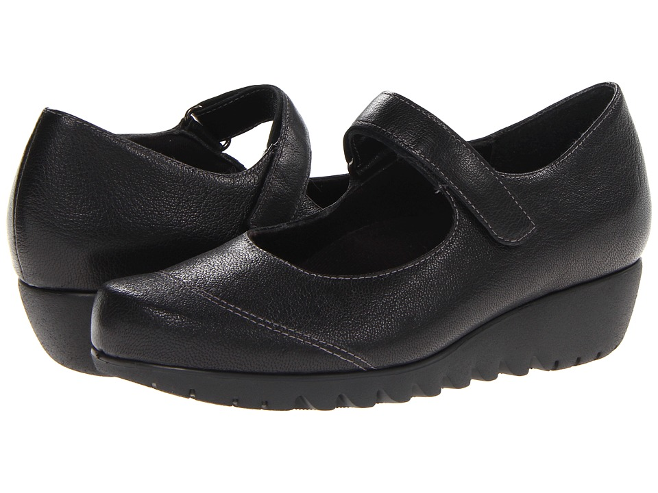 Munro American - Alpine (Black Leather) Women's Shoes