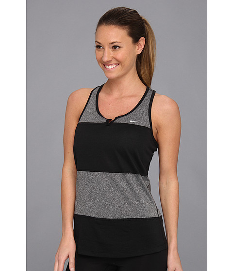 Nike - Elite Tank (Black/Black/Reflective Silver) Women