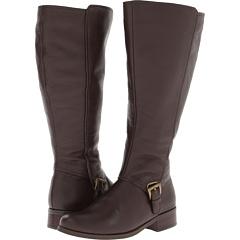 Fitzwell Myla Wide Calf Boot (Dark Brown Pebble Calf) Footwear