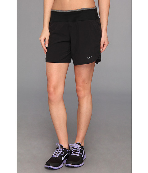 Nike - Six-Inch SW Rival Short (Black/Black Heather/Reflective Silver) Women's Shorts