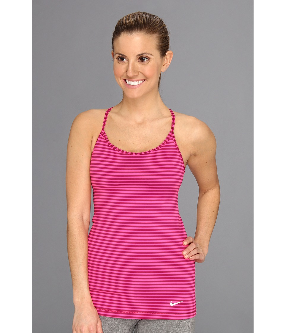 Nike - Stripe Favorites Tank (Raspberry Red/Pink Foil/White) Women