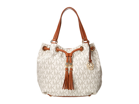MICHAEL Michael Kors - Jet Set Large Gathered Tote (Vanilla) Tote Handbags