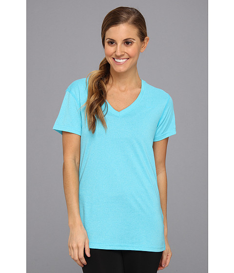 Nike - Regular Legend Short-Sleeve V-Neck (Gamma Blue/Gamma Blue) Women's Short Sleeve Pullover