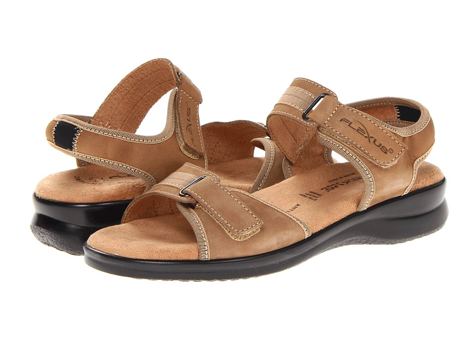 Flexus - Danila (Tan Nubuck) Women's Sandals