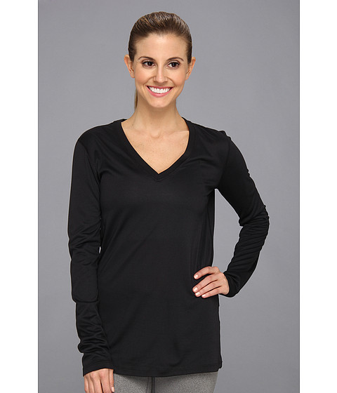 Nike - Regular Long-Sleeve Legend Tee V-Neck (Black/Cool Grey/White) Women's Long Sleeve Pullover