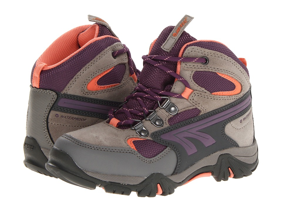 Hi-Tec Kids - Nepal WP Jr. (Toddler/Little Kid/Big Kid) (Warm Grey/Beetroot/Salmon) Boys Shoes