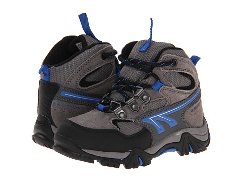 Hi-Tec Kids - Nepal WP Jr. (Toddler/Little Kid/Big Kid) (Charcoal/Blue/Black) Boys Shoes