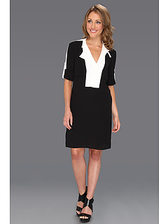 SALE! $99.99 - Save $148 on BCBGMAXAZRIA Agnes Trench Shirtdress (Black Combo) Apparel - 59.68% OFF $248.00