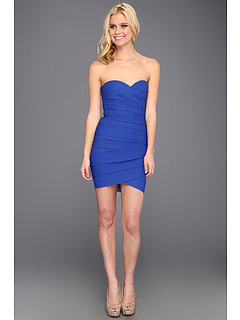 SALE! $130.99 - Save $167 on BCBGMAXAZRIA Madge Strapless Ruched Cocktail Dress (Blue Sapphire) Apparel - 56.04% OFF $298.00