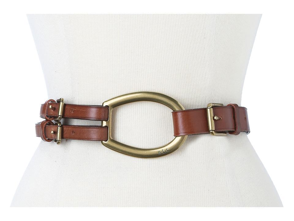 LAUREN Ralph Lauren Vachetta Tri-Strap Belt (Tan 1) Women
