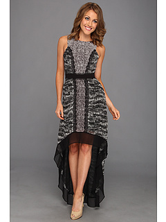 SALE! $219.99 - Save $178 on BCBGMAXAZRIA Sienna Sleeveless High Low Dress (Black Combo) Apparel - 44.73% OFF $398.00
