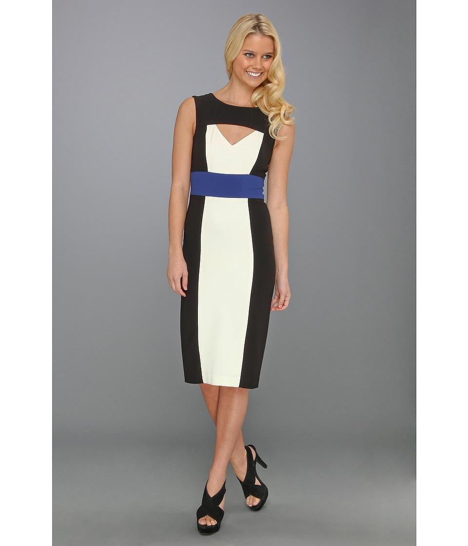 BCBGMAXAZRIA Antonella Color Blocked Sheath Dress Womens Dress (Multi)
