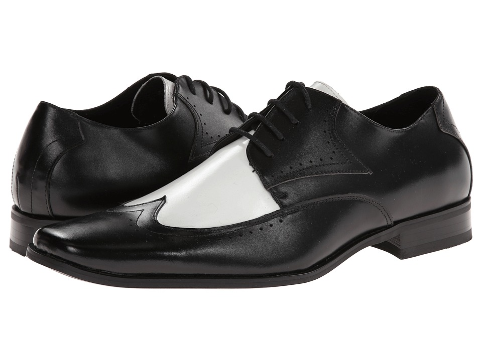 Stacy Adams - Atticus (Black And White Leather) Men's Shoes